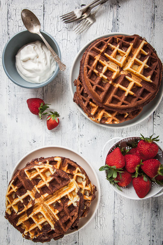 Chocolate Waffles | Chocolate Waffles Recipe | Eat the Love