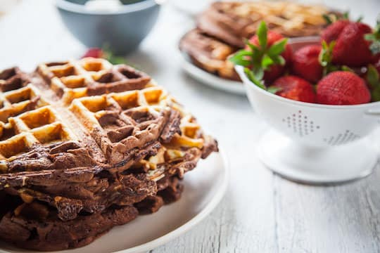 Chocolate Waffles Recipe. Photo by Irvin Lin of Eat the Love. www.eatthelove.com