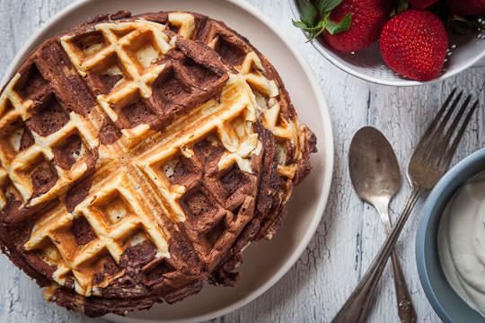 Chocolate Waffles | Chocolate Waffles Recipe | Eat the Love