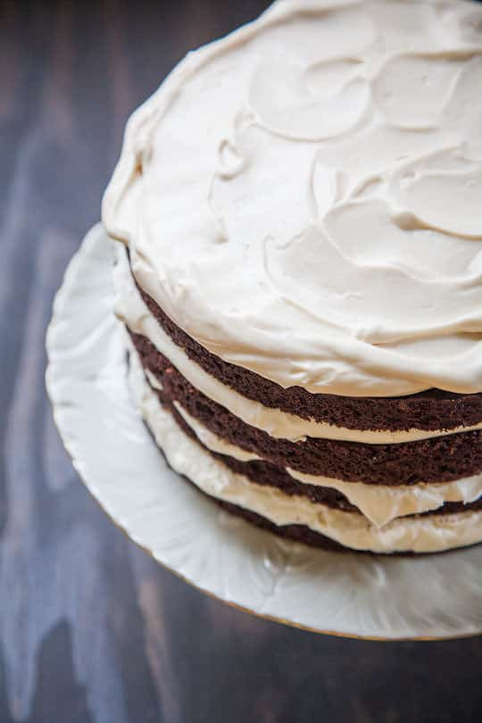 Irish Car Bomb Cake, a Guinness Chocolate Cake with Irish Whiskey and Irish Cream. Photo and Recipe by Irvin Lin of Eat the Love. www.eatthelove.com