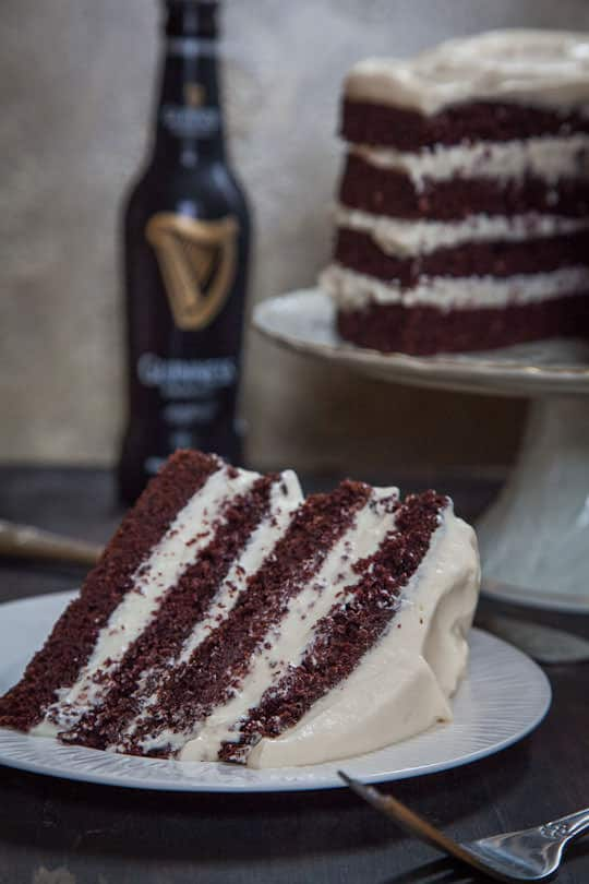 A slice of Irish Car Bomb Cake. Photo and recipe by Irvin Lin of Eat the Love. www.eatthelove.com