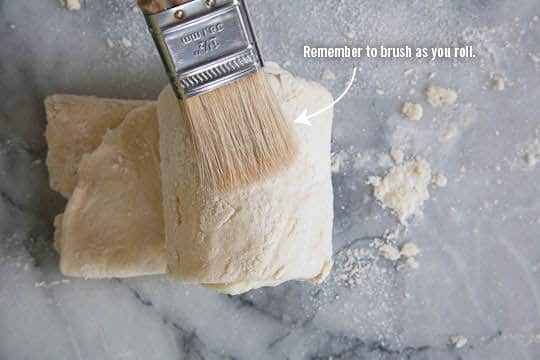 Remember to brush the dough as you roll. Photo by Irvin Lin of Eat the Love. www.eatthelove.com