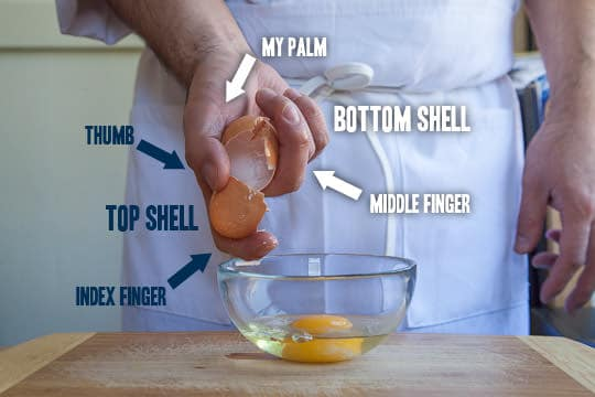 How to crack an egg neatly done