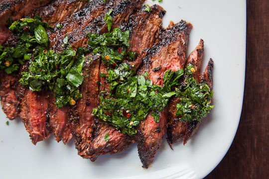 Skirt Steak Recipe with all-purpose steak rub and chimichurri sauce ...