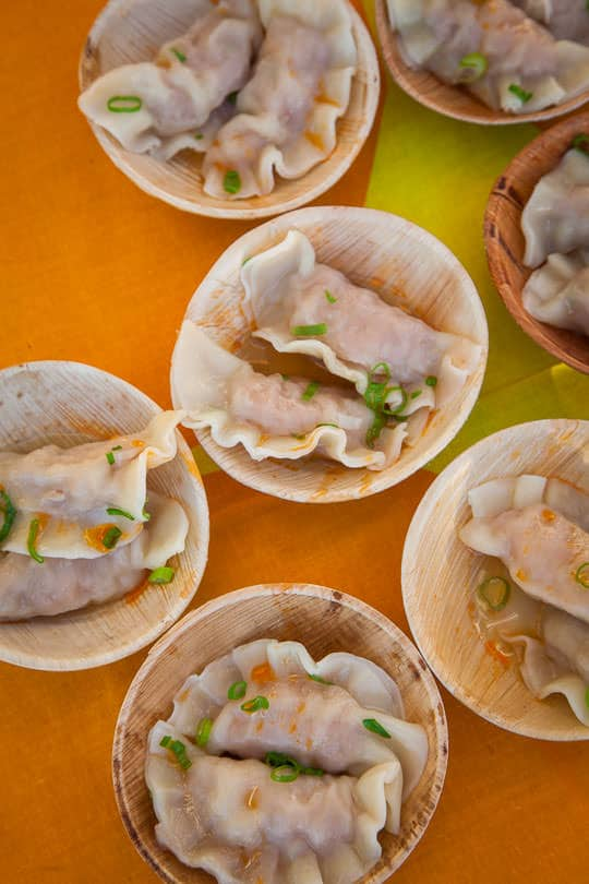 Pork and Shrimp Water Dumplings at the Feast Portland Night Market. Photo by Irvin Lin of Eat the Love.
