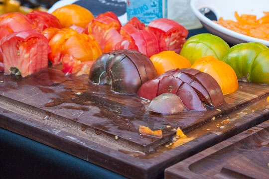 Heirloom tomatoes at Oregon Bounty at Feast Portland. Photo by Irvin Lin of Eat the Love.