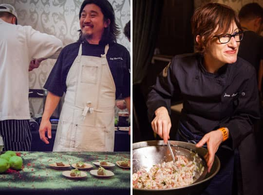 Chef Edward Lee and Chef Jenn Louis  at High Comfort at Feast Portland. Photos by Irvin Lin of Eat the Love.
