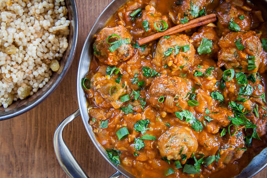 Mediterranean meatballs, a lamb meatball recipe with Tunisian spices by Irvin Lin of Eat the Love.