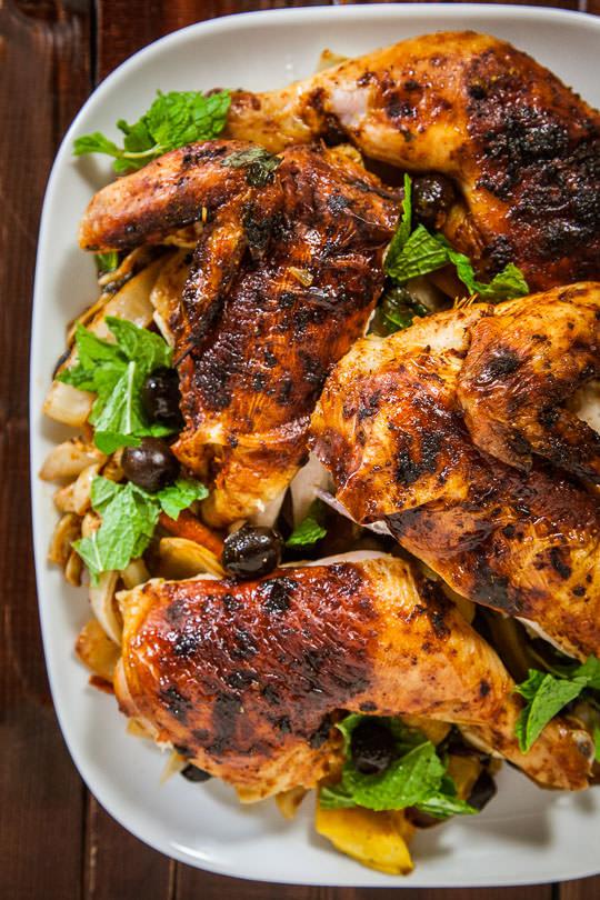 Moroccan-Spiced Roast Chicken Recipe — Dishmaps