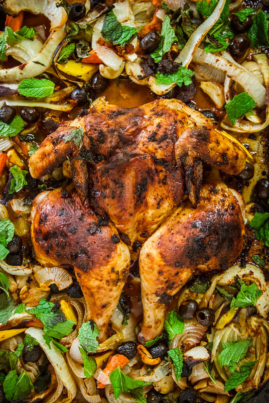 Moroccan Spiced Chicken | Moroccan Roast Chicken | Eat the Love