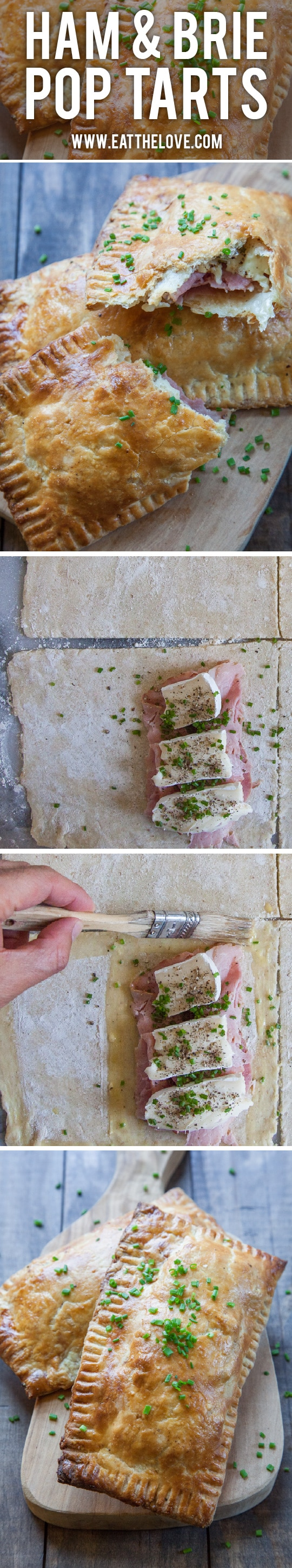 Handheld Ham and Brie Pies. Photo and recipe by Irvin Lin of Eat the Love.