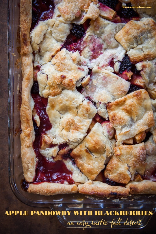 Apple Pandowdy with Blackberries