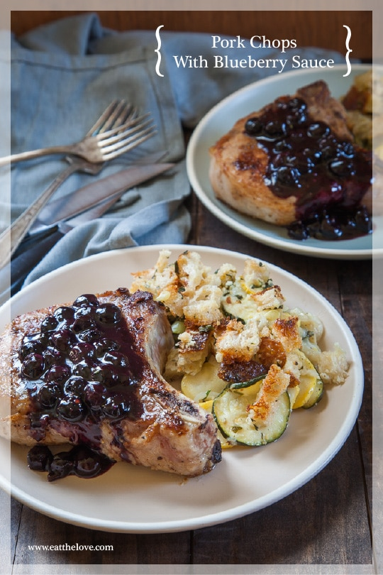 Sponsored Post: Spiced Rubbed Pork Chop with Maple Blueberry Sauce
