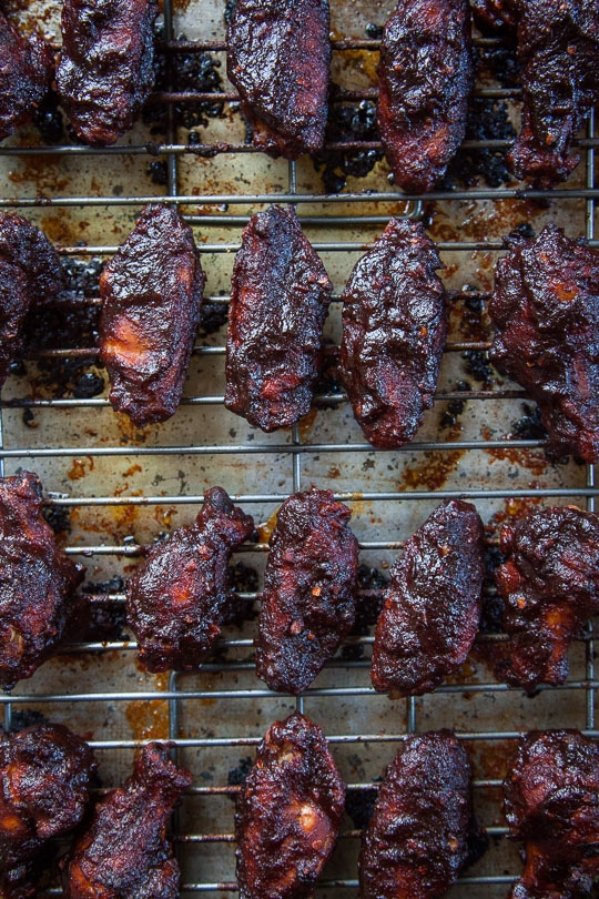 Barbecue Chicken Wings. Made with homemade spicy and sweet barbecue sauce. Recipe and photo by Irvin Lin of Eat the Love.