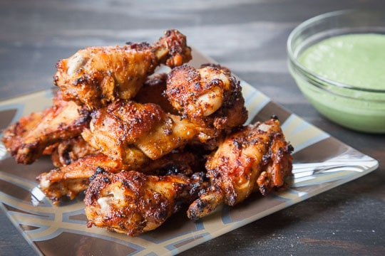 Peruvian Chicken Wings with Spicy Peruvian Green Sauce. Photo and ...