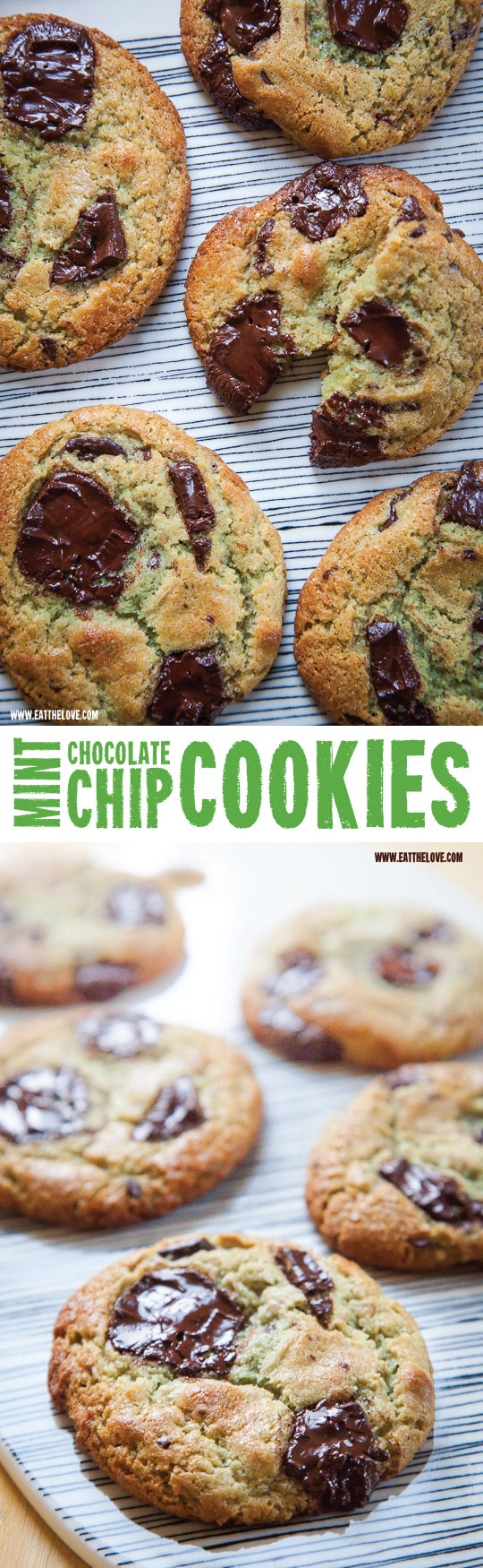 Mint Chocolate Chip Cookies - Eat The Love