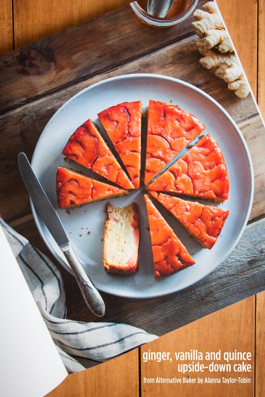 Ginger, Vanilla and Quince Upside-Down Cake.