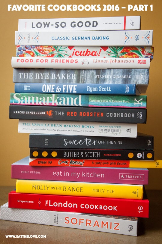 Favorite Cookbooks 2016 (part 1)