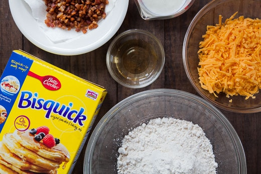 The ingredients for the biscuits