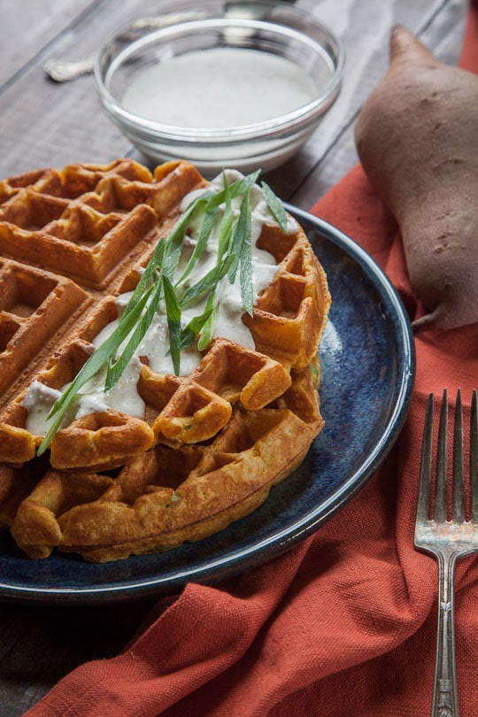 Savory Sweet Potato Waffles | Sweet Potato Waffles | Eat the Love
