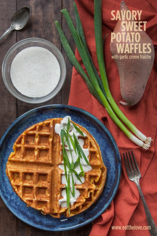 Savory Sweet Potato Waffles [Sponsored Post]