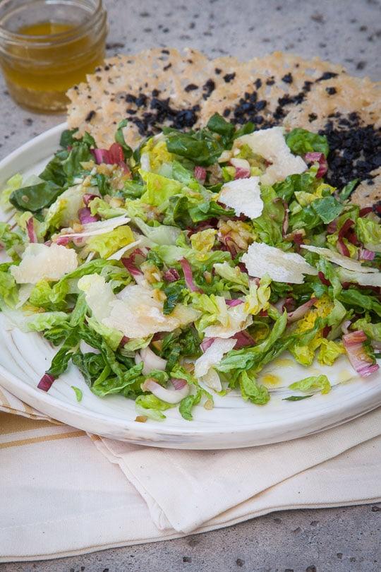 Salad with Olive Vinaigrette