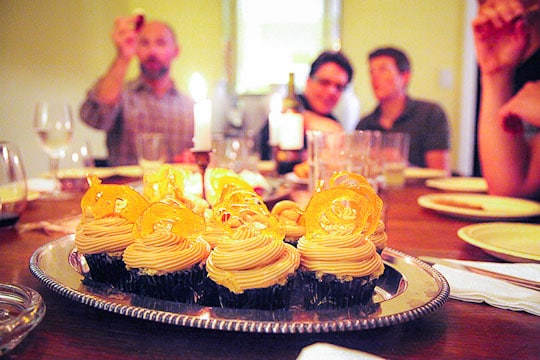 Black Bottom Cupcake with Salted Caramel Frosting. Photo by Irvin Lin of Eat the Love. www.eatthelove.com