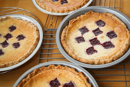 Lemon Blackberry Chess Pie by Irvin Lin of Eat the Love. www.eatthelove.com