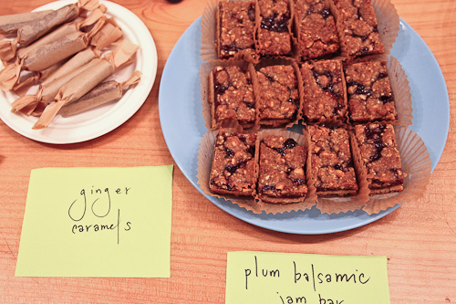 Plum balsamic jam bars