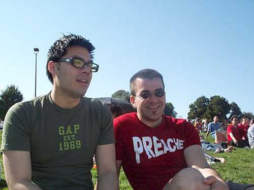 AJ and I hanging out in Dolores Park