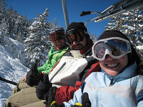 Irvin, AJ and Rita on lift
