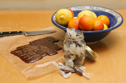 Salted Blood Orange Spiced Caramels