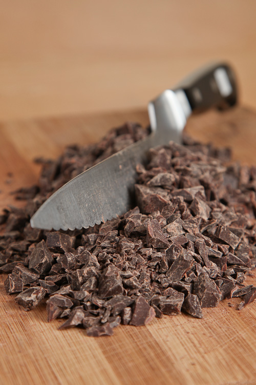 Chop chocolate into small chunks