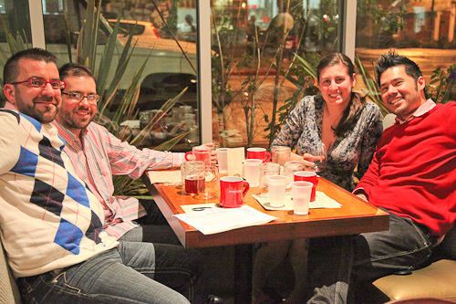 Will, Kim, AJ and Irvin at Homeroom