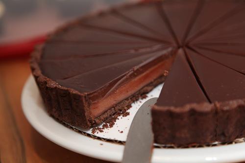 Chocolate Blood Orange Tart