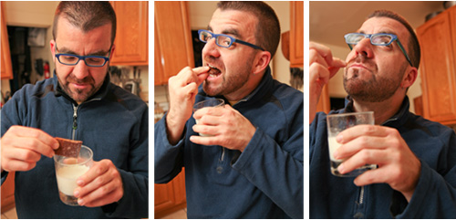 AJ eating Graham Crackers