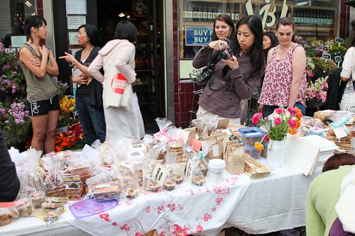 Anita taking photos at the Bake Sale