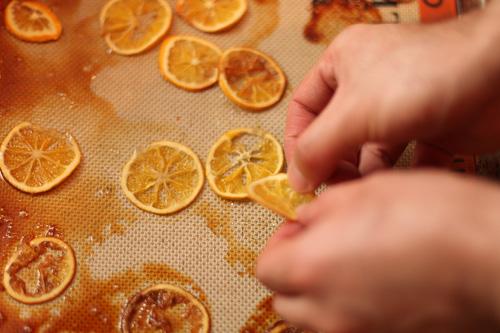 carmelized candied Meyer lemons