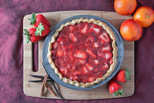 Strawberry Blood Orange Pie