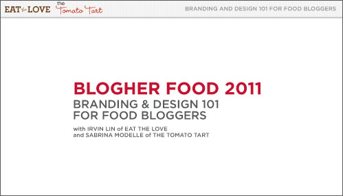 BlogHer Food presentation title card