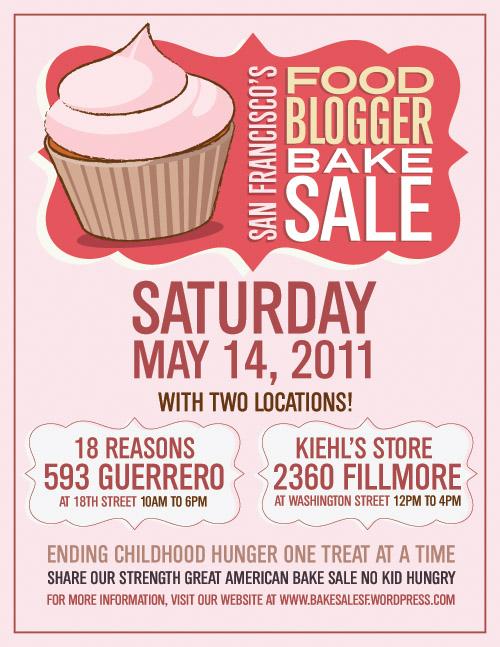SF Food Blogger Bake Sale Flyer