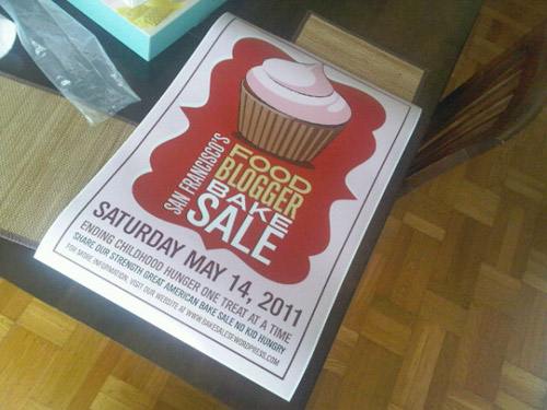 Sneak Peak of our Food Blogger Bake Sale Posters