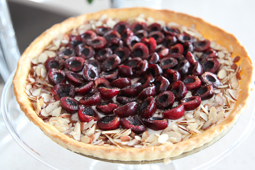 Cherry Goat Cheese Tart
