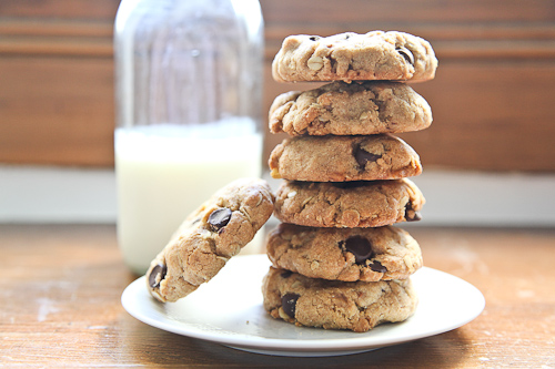 Chunky Chocolate Toffee Oatmeal Whole Grain Cookies jpg