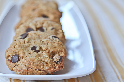 Chunky Chewy Chocolate Toffee Oatmeal Whole Grain Cookies jpg