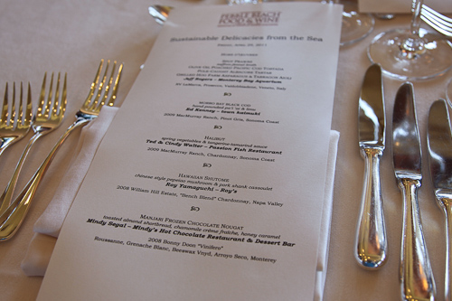 Sustainable Delicacies from the Sea Luncheon Menu jpg