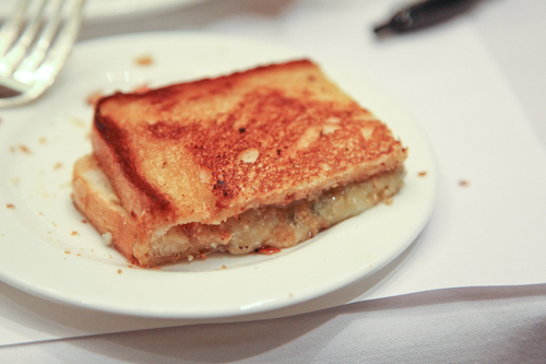 Hazelnut butter, gorgonzola and gouda grilled cheese jpg