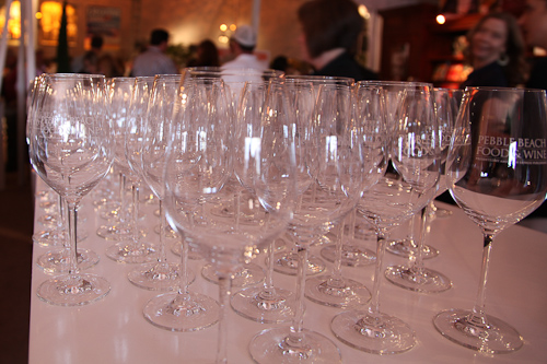 Pebble Beach Tasting Pavilion Wine Glasses jpg