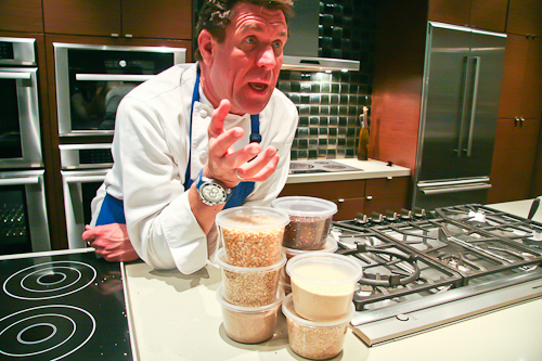 Chef Brad with eight of his favorite whole grains.
