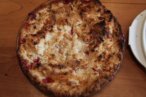 Nectarine Raspberry Pie jpg